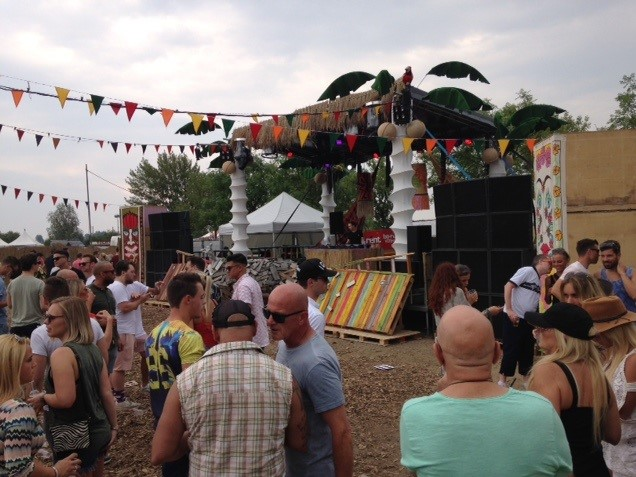 festival in volle gang